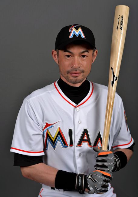 イチロー/Ichiro Suzuki (Marlins), FEBRUARY 25, 2015 - MLB : Miami Marlins right fielder Ichiro Suzuki (51) poses during photo day at Roger Dean Stadium. Mandatory Credit: Steve Mitchell-USA TODAY Sports